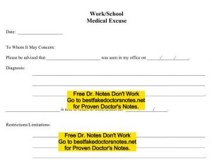 fake doctor note