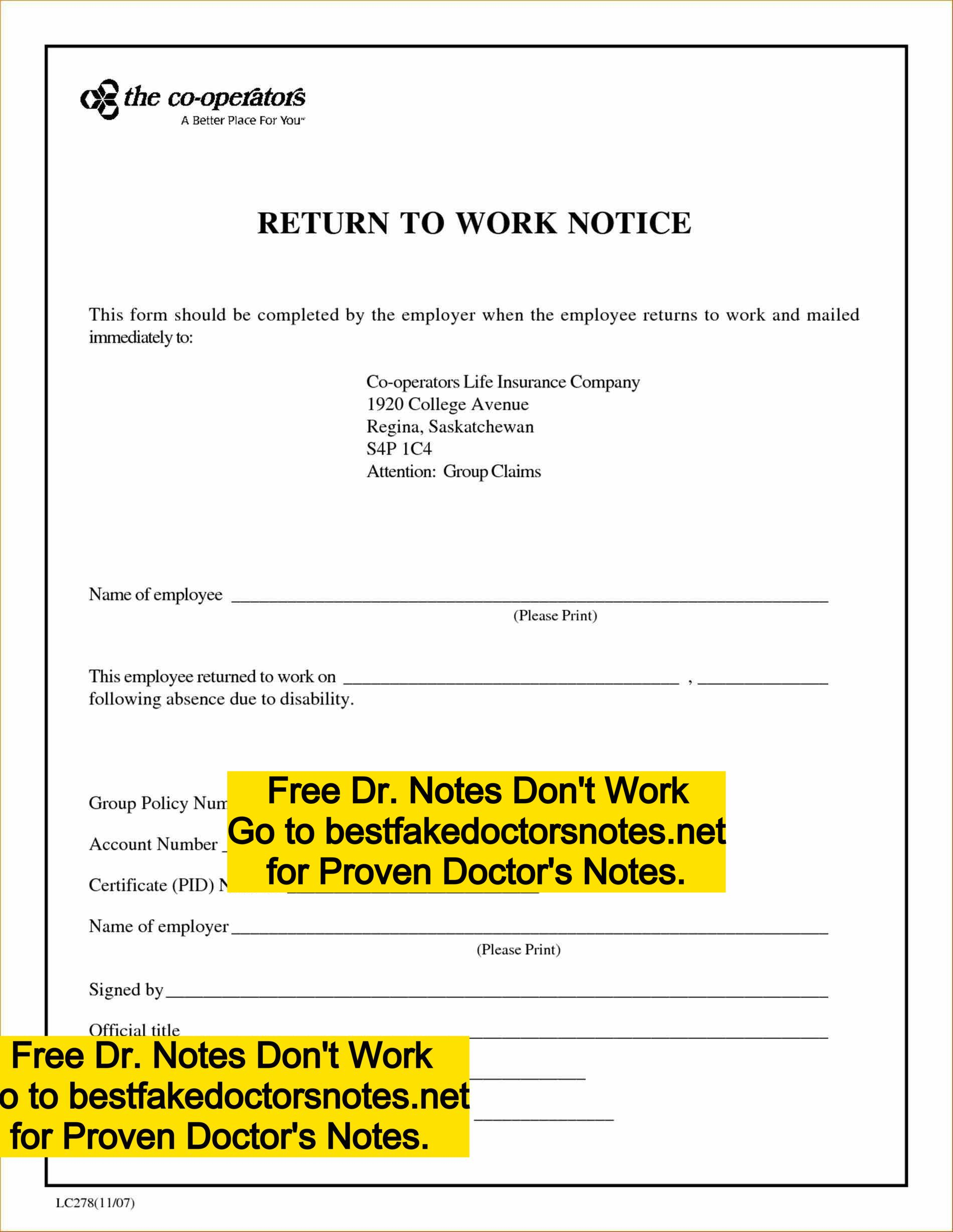 fake doctor u2019s note for work  school